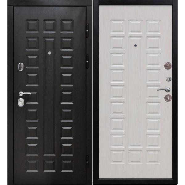 Входная металлическая дверь Сенатор 3К венге - белый ясень