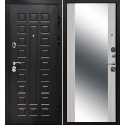 Входная дверь Италия 3К зеркало белый ясень
