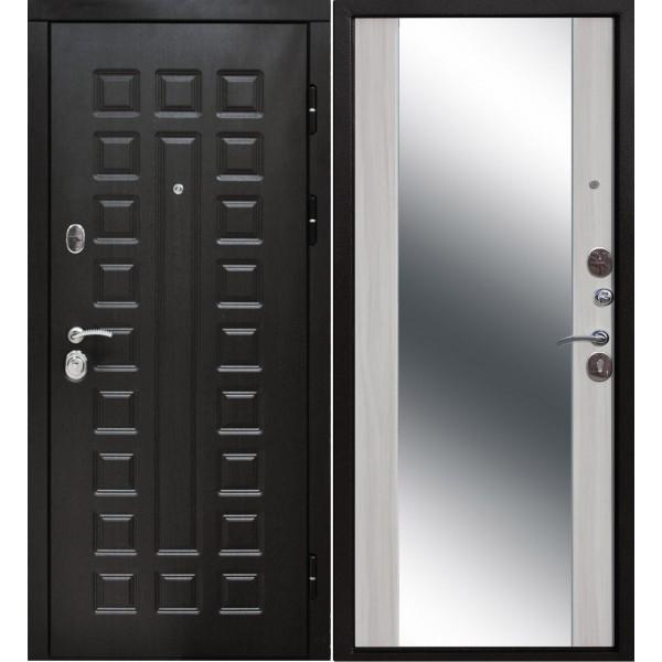 входная дверь Сенатор 3 К зеркало Ясень белый