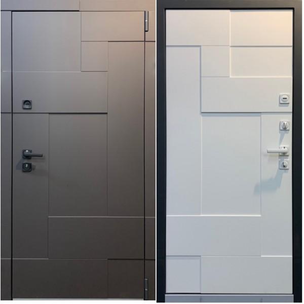 входная дверь  Persona Домино премиум класса с замками Cisa и крашенными панелями