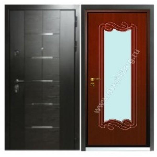 входная защитная дверь Персона ТехноЛюкс Премиум класса с зеркалом