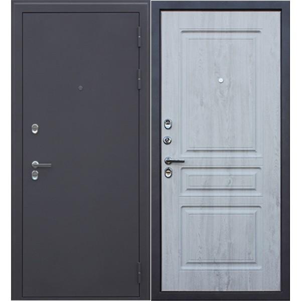 уличная термо дверь АСД 3К Сибирь с белой панелью