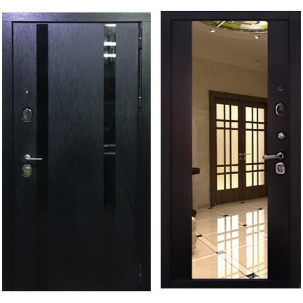 Входная дверь Персона Гранд 1 Премиум Венге с зеркалом в рост