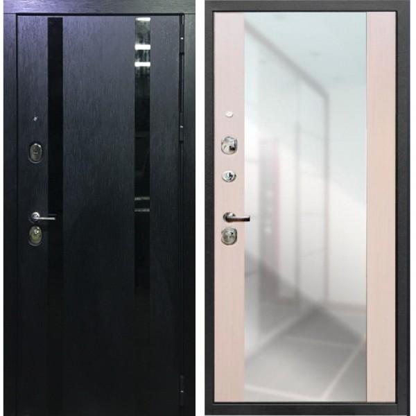 Входная дверь с зеркалом Премиум Персона Гранд -1 сандал белый