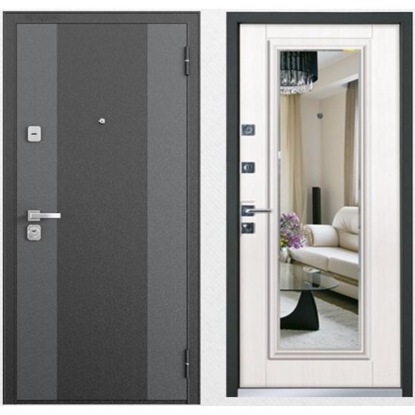 входная дверь с зеркалом Бульдорс 44 Т вариант 2
