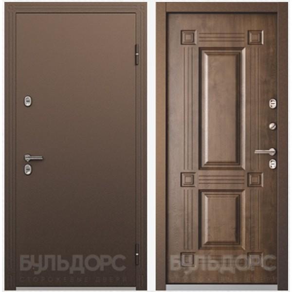 Уличная дверь Бульдорс Термо-2 Грецкий орех с терморазрывом