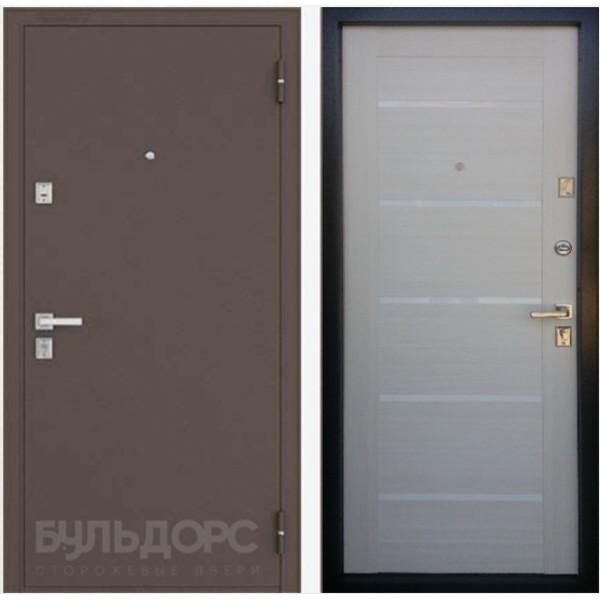 Купить входную дверь эконом Бульдорс 13Р вариант 2 Белёный дуб для квартиры