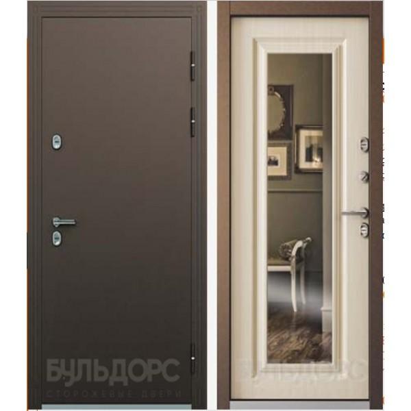 Уличная дверь Бульдорс Термо-2 с зеркалом и с терморазрывом