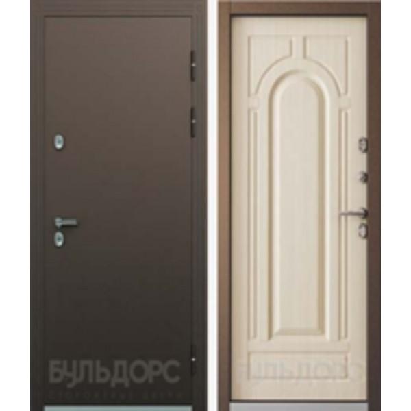 Уличная дверь Бульдорс Термо-2 белый перламутр с терморазрывом