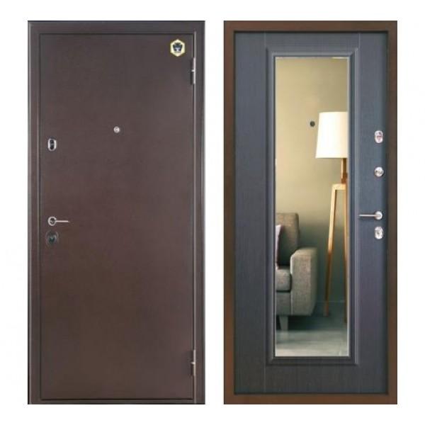 """дверь с зеркаломБульдорс 14T , Цвет """"Венге"""""""
