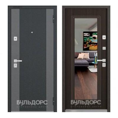 """дверь с зеркалом Бульдорс 44 Конструктор K-2 / T-5, Цвет """"Венге Мелинга"""""""