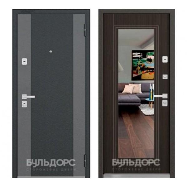 """входная  дверь с зеркалом Бульдорс 44 Конструктор K-2 / T-5, Цвет """"Венге Мелинга"""""""