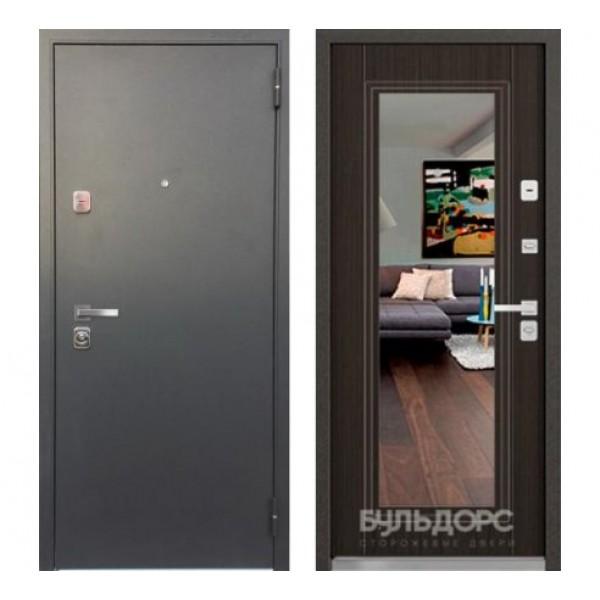 """входная  дверь с зеркалом Бульдорс 44 Конструктор T-5, Цвет """"Венге Мелинга"""""""