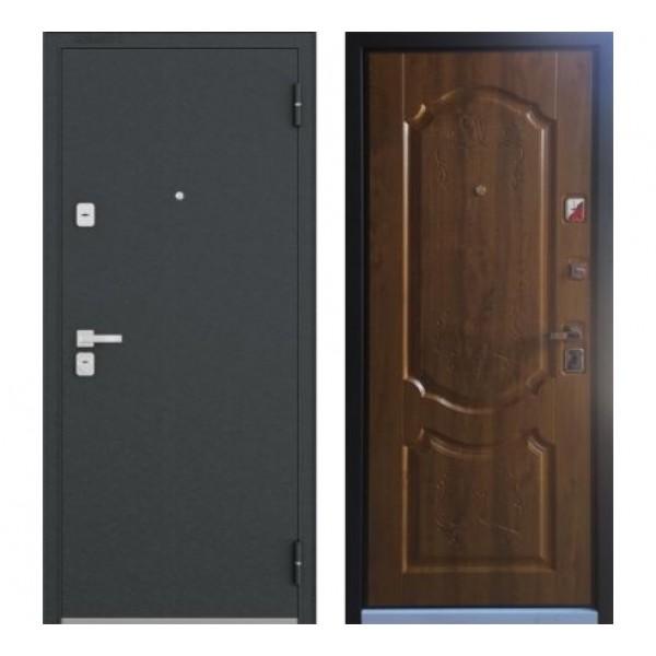 """дверь Бульдорс 44 """"N-1, Черный шелк, Дуб медовый"""""""