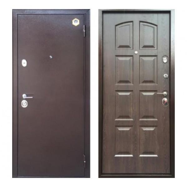 дверь Бульдорс 24 (панель F3, Дуб шоколад, 16мм)