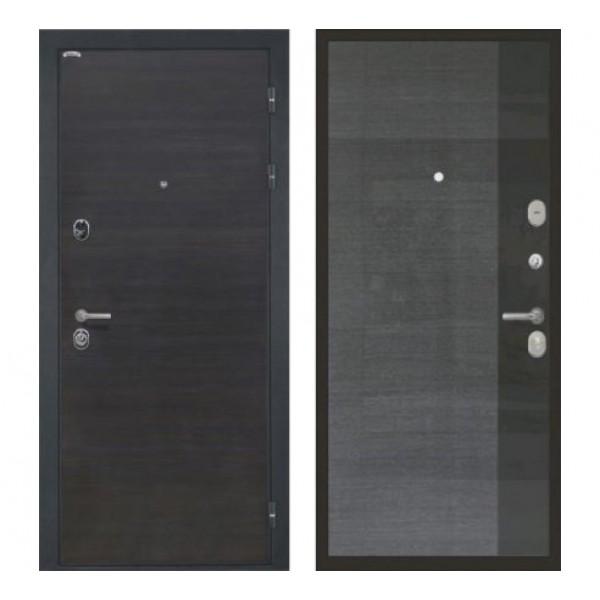"""входная дверь Интекрон Сицилия Spacia4 """"Телла Gloss""""+ Черный глянец"""