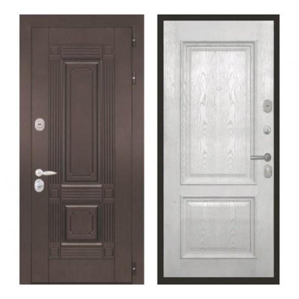 """входная дверь Интекрон Италия """"Валентия 4 / Ясень жемчуг"""""""
