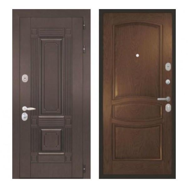 """входная дверь Интекрон Италия  """"Позитано / Дуб бургундский"""""""