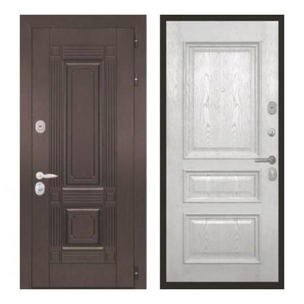 """входная  дверь Интекрон Италия """"Валентия 2 / Ясень жемчуг"""""""