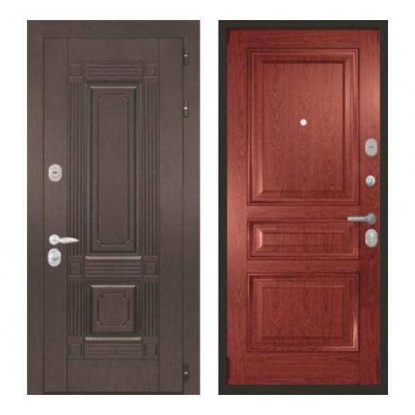 """входная дверь Интекрон Италия """"Валентия 2 / Красное дерево"""""""
