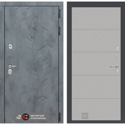входная дверь  Labirint Beton 13 Грей софт