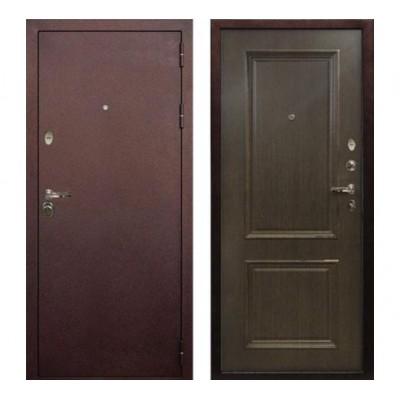 """дверь Лекс Титан """"Антик медный / Орех №57 с 3D Багетом"""""""