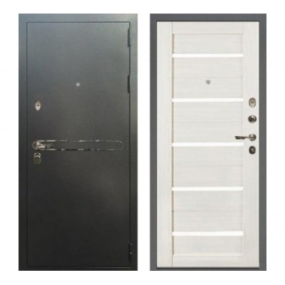 дверь Лекс Титан Антик серебро | Беленый дуб №46