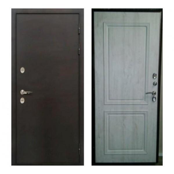 уличная дверь Лекс Термо Стандарт рис.№55 Сосна белая