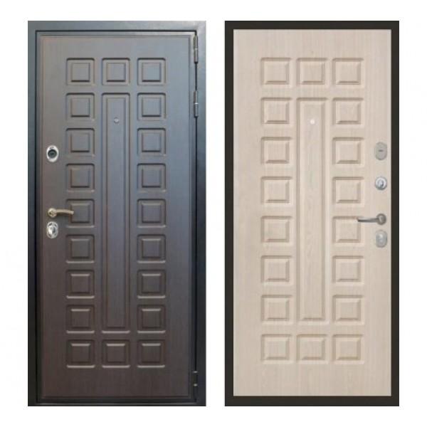 """входная дверь Лекс Гладиатор, №21 Цвет """"Беленый дуб"""" Бизнес класс"""