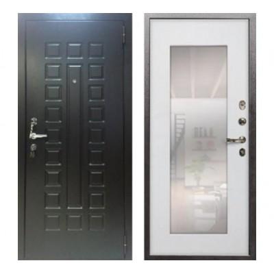 дверь Лекс Гладиатор НЕО 2К Зеркало №37 Сандал белый
