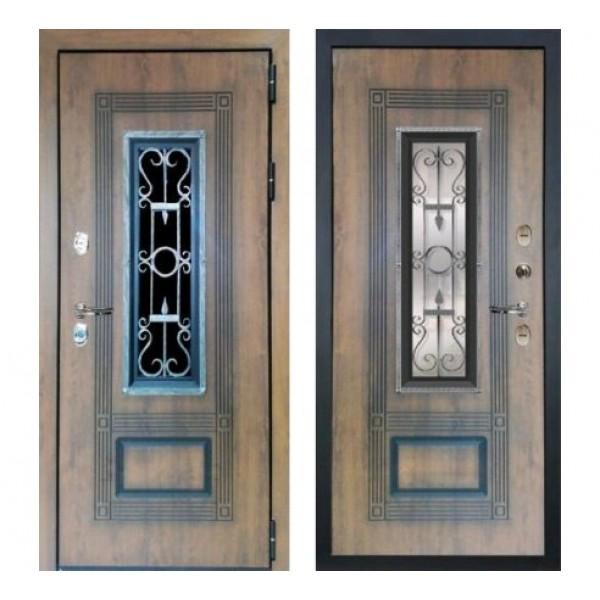 уличная дверь дверь Лекс Термо Русь (Голден патина