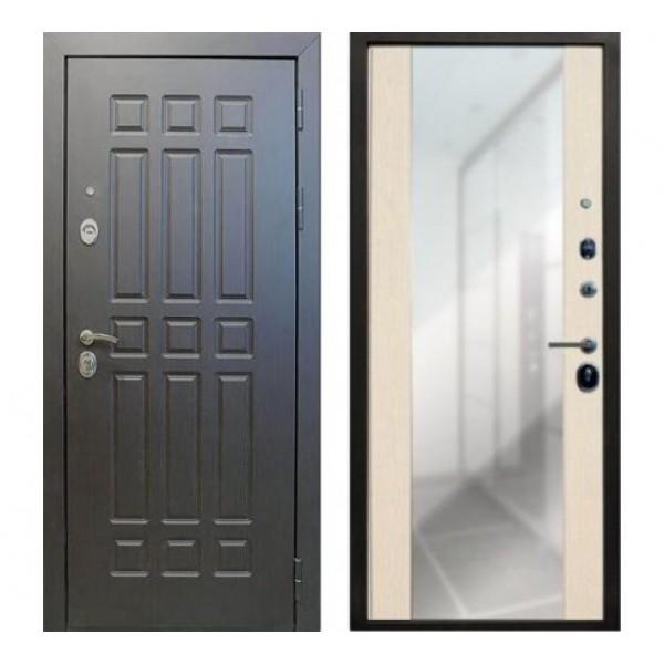"""дверь Лекс Сенатор с зеркалом """"Стиль"""" Беленый дуб №45"""