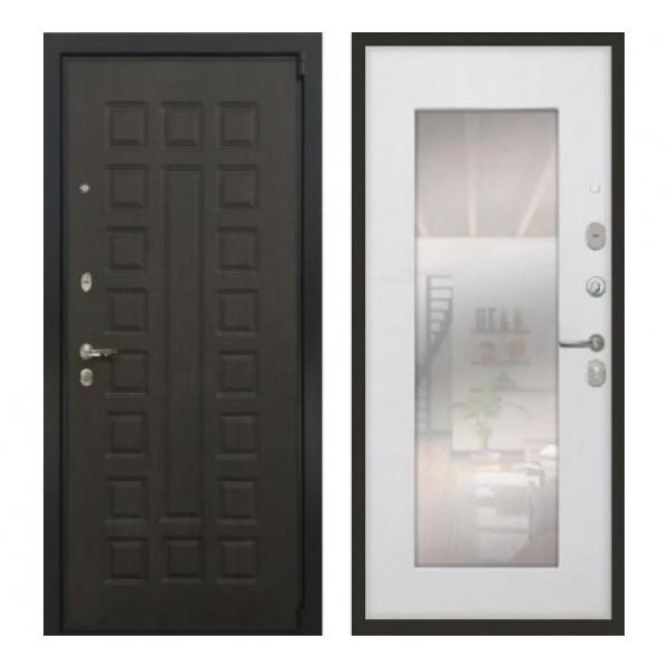 """входная дверь Лекс Неаполь Mottura / Cisa, Цвет """"Белый ясень"""" зеркало №37"""