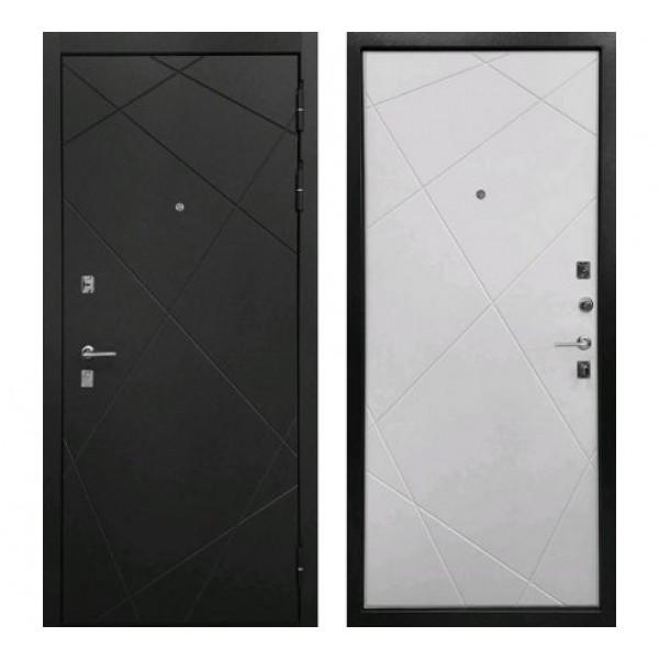 """дверь Ратибор Мегаполис """"Лофт сильвер / Матовый белый"""""""