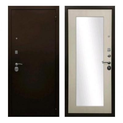 """дверь Ратибор Оптима 3К с зеркалом """"Лиственница бежевая"""""""