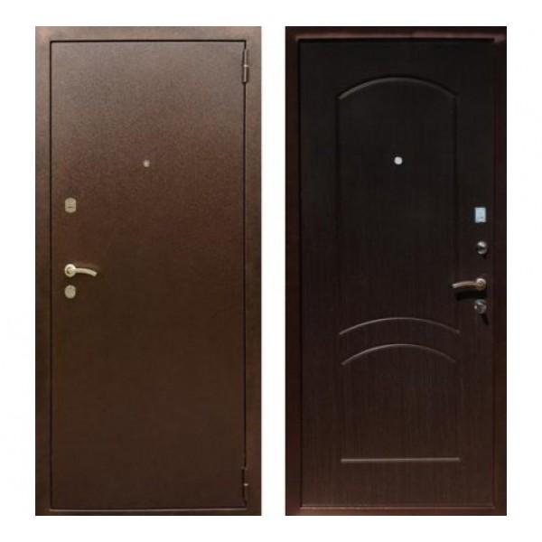 """входная дверь Rex 1А Хром, Цвет """"Венге"""""""