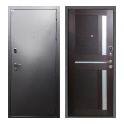 """дверь Rex Титан СБ-18 """"Серебро антик / Орех темный рифленый"""""""