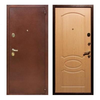 """дверь Rex 2 Латунь, Цвет """"Дуб"""""""