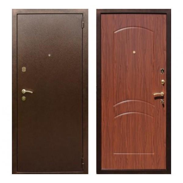 """входная дверь Rex 1А Латунь, Цвет """"Орех тисненый"""""""