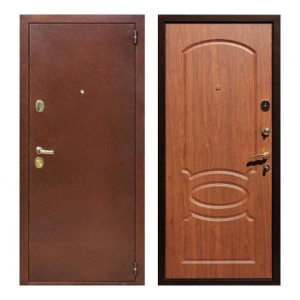 """входная дверь Rex 2 Латунь, Цвет """"Береза мореная"""""""