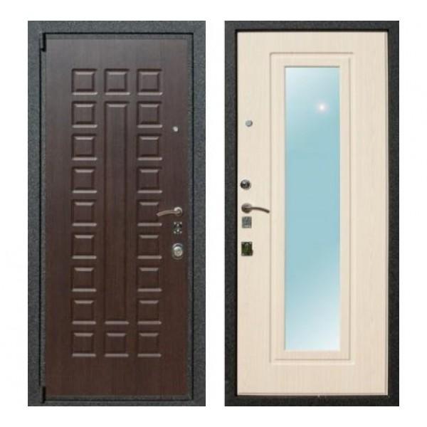 """входная дверь Rex 4A с зеркалом, Цвет """"Беленый дуб"""" замок Mottura (Италия)"""