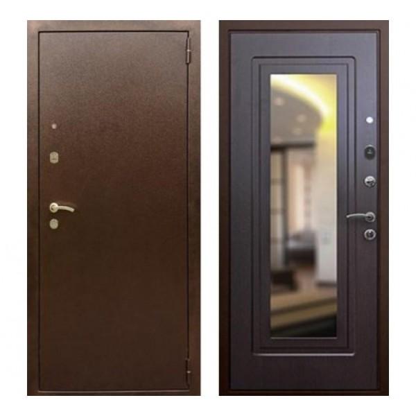"""входная дверь с зеркалом Rex 1А , Цвет """"Венге"""""""