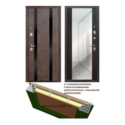 """дверь Rex Премьер Z3 с зеркалом """"Венге"""""""