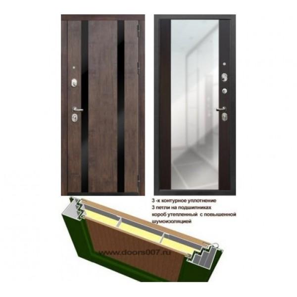 """входная дверь Rex Премьер Z3 с зеркалом """"Венге"""""""