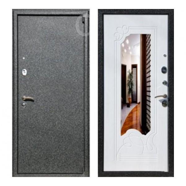 """входная дверь Rex 3 с зеркалом """"Белый ясень"""""""
