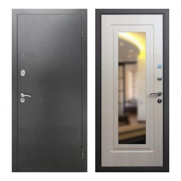 """входная  дверь Rex 2А с зеркалом, Цвет """"Беленый дуб"""""""