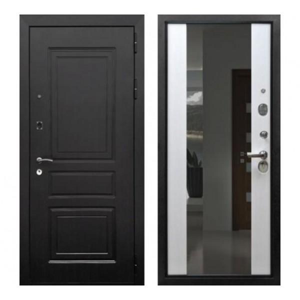 """дверь входная Rex 6 с зеркалом """"Белый ясень"""""""