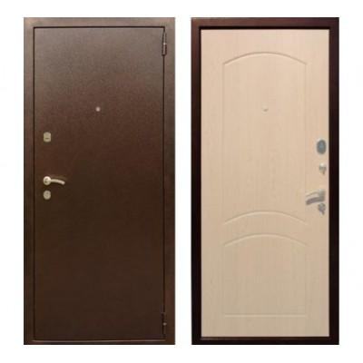 """дверь Rex 1А Хром, Цвет """"Беленый дуб"""""""