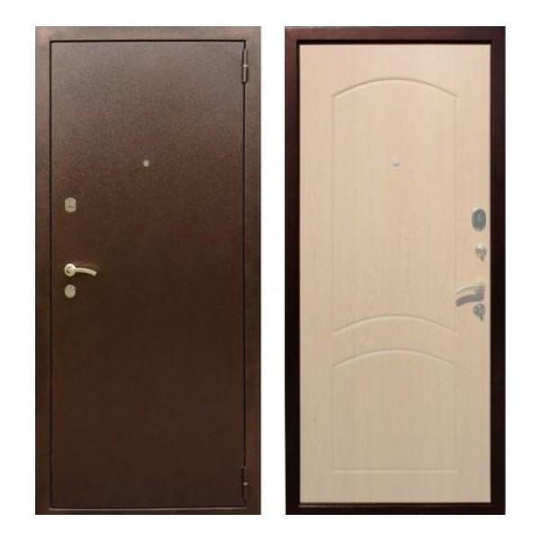 """входная  дверь Rex 1А Хром, Цвет """"Беленый дуб"""""""