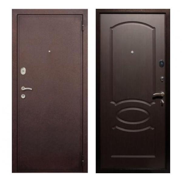 """входная дверь Rex 2 Хром, Цвет """"Венге"""""""